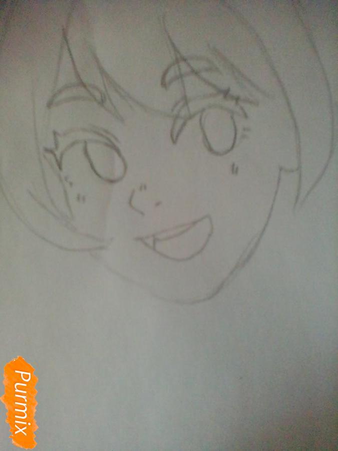 Рисуем Хадо Неджирэ из аниме Моя Геройская Академия - шаг 2