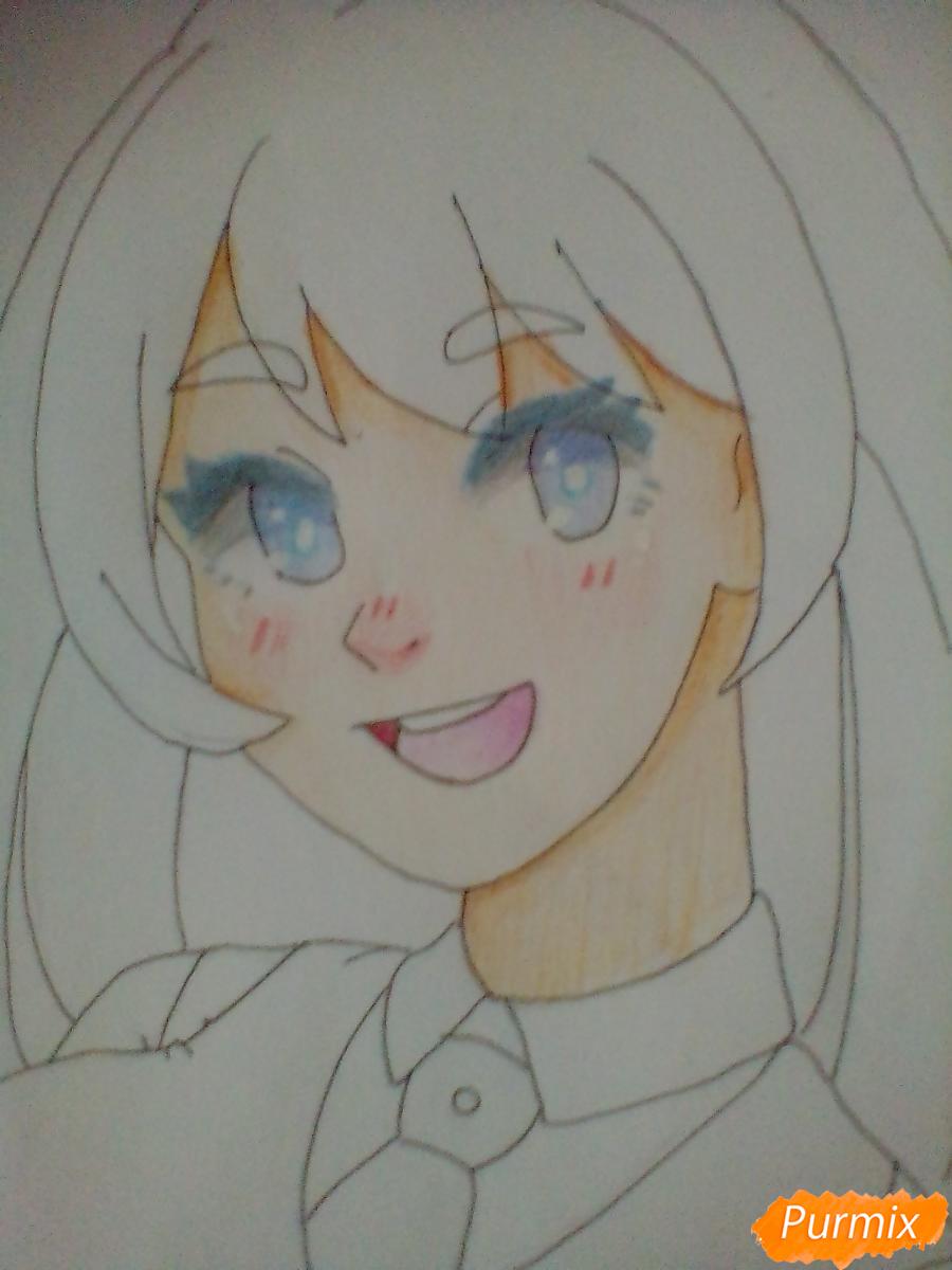 Рисуем Хадо Неджирэ из аниме Моя Геройская Академия - шаг 8