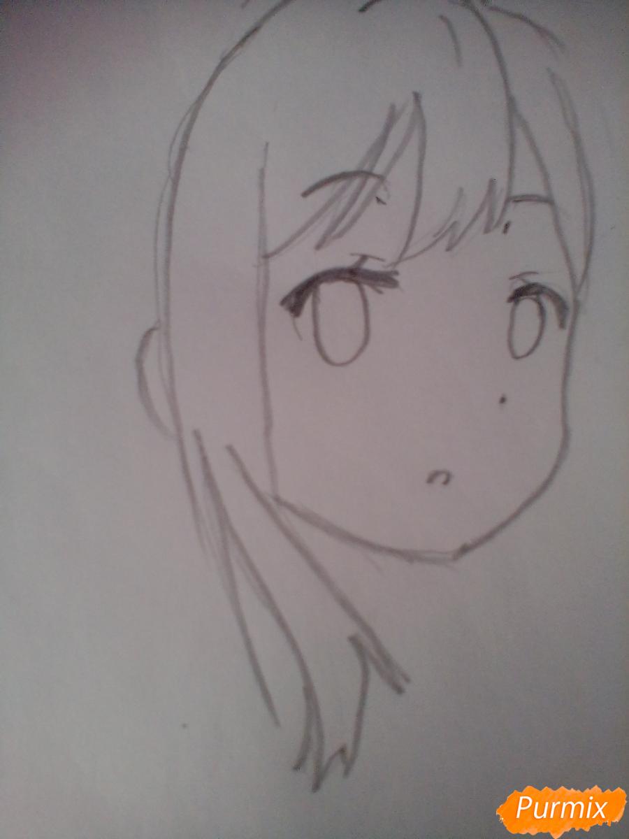 Рисуем Ханамару Куникиды из аниме Живая Любовь - шаг 2