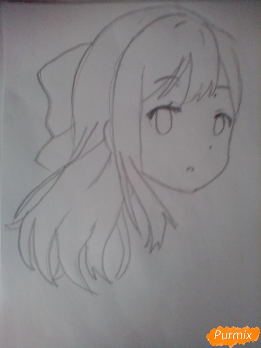 Рисуем Ханамару Куникиды из аниме Живая Любовь - шаг 3