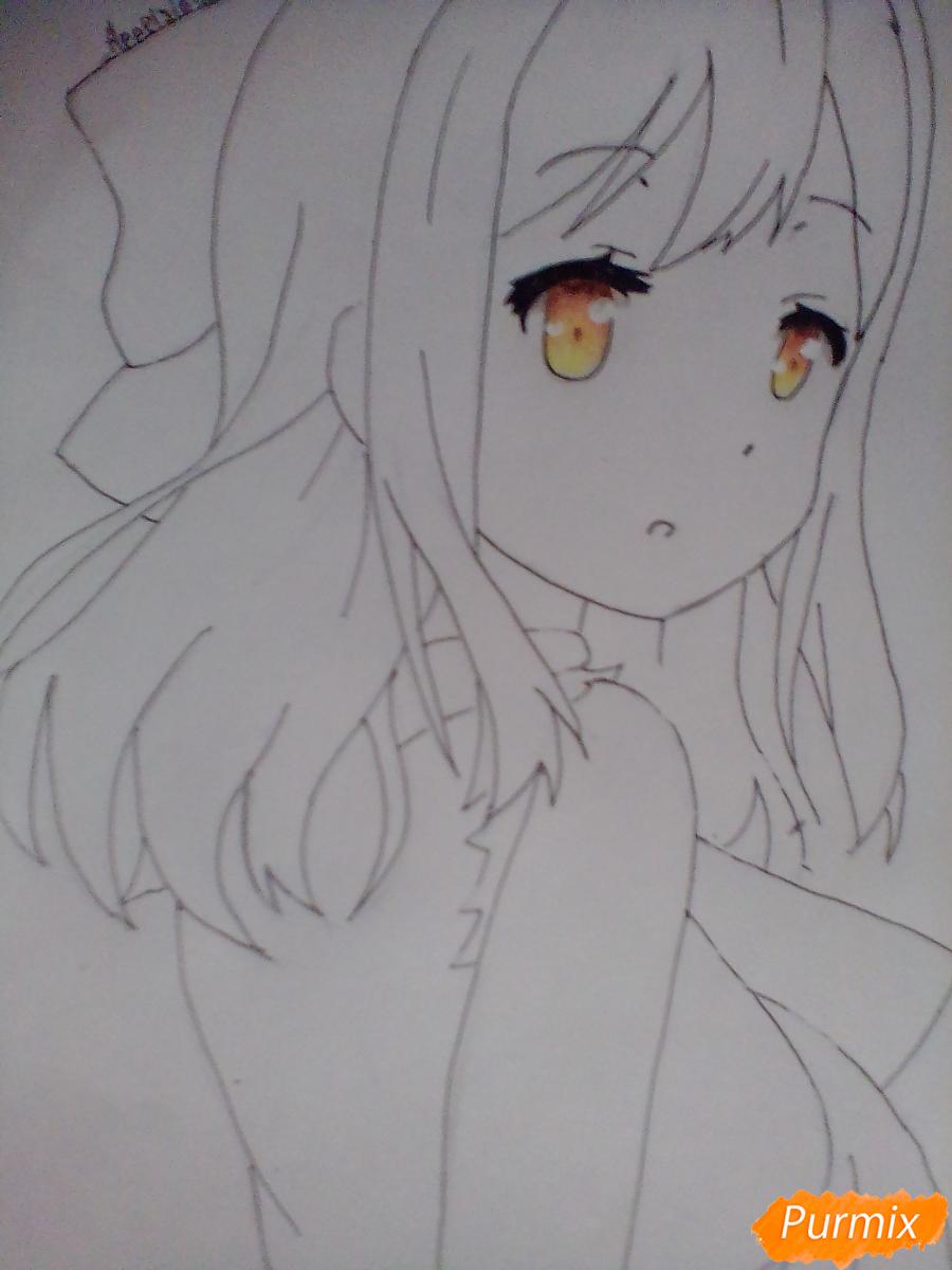 Рисуем Ханамару Куникиды из аниме Живая Любовь - шаг 6