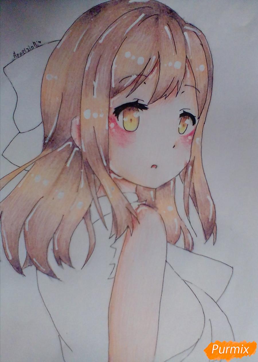 Рисуем Ханамару Куникиды из аниме Живая Любовь - шаг 8