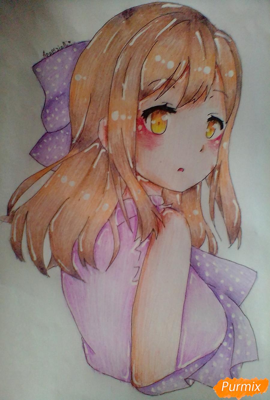 Как нарисовать Ханамару Куникиды из аниме Живая Любовь