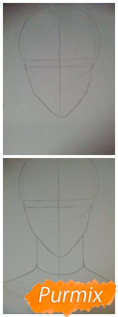 Рисуем Ханамию Макото из аниме Баскетбол Куроко - шаг 1