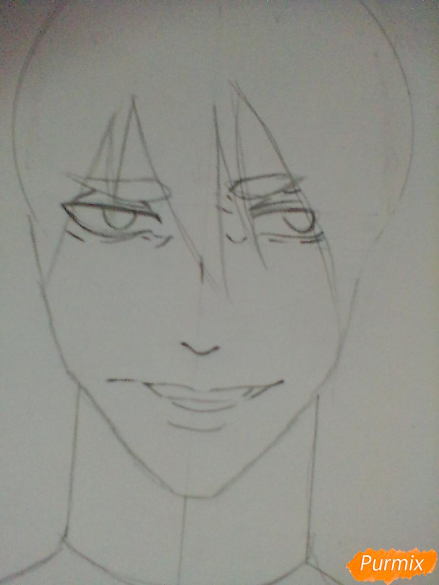 Рисуем Ханамию Макото из аниме Баскетбол Куроко - шаг 2