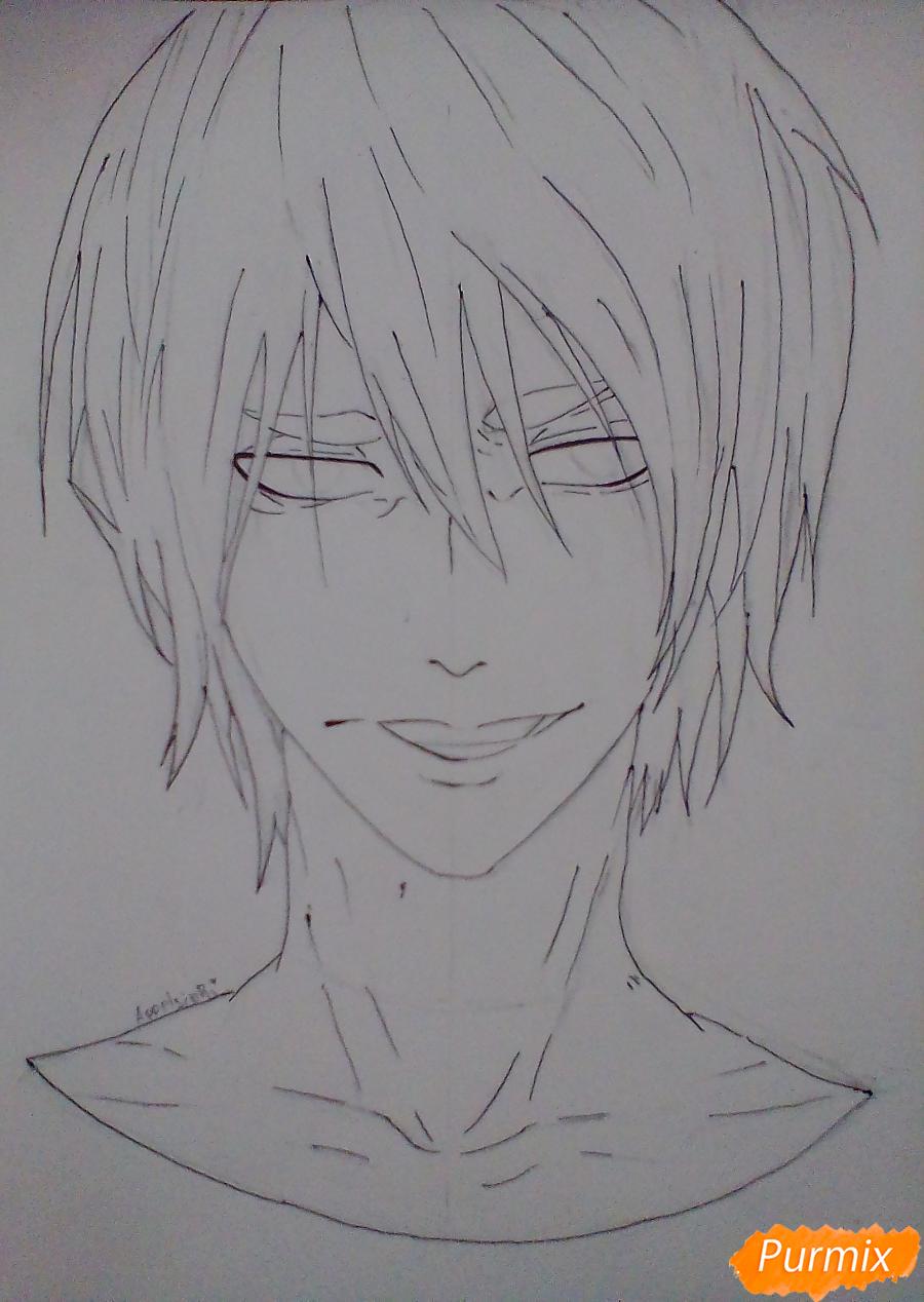 Рисуем Ханамию Макото из аниме Баскетбол Куроко - шаг 5