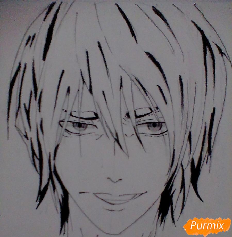 Рисуем Ханамию Макото из аниме Баскетбол Куроко - шаг 6