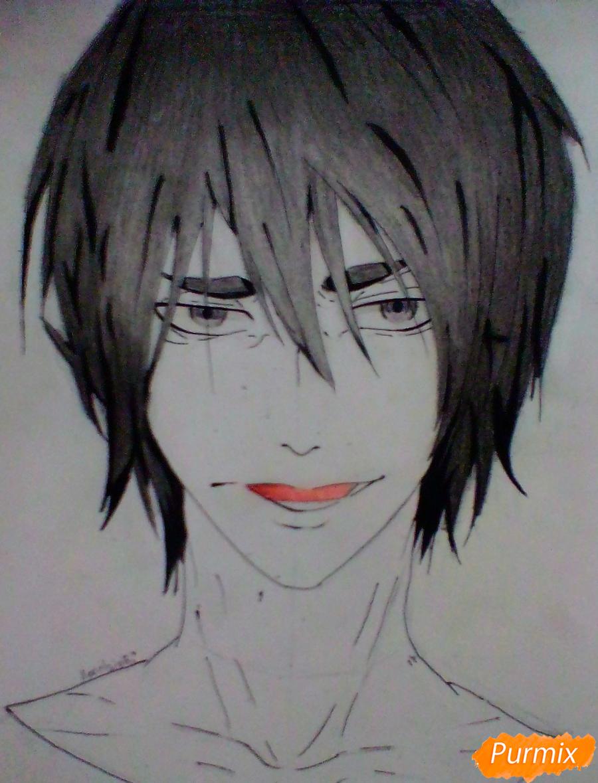 Рисуем Ханамию Макото из аниме Баскетбол Куроко - шаг 7
