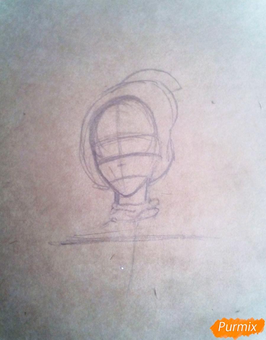 Рисуем Ханджи Зою из аниме Атака Титанов - шаг 1