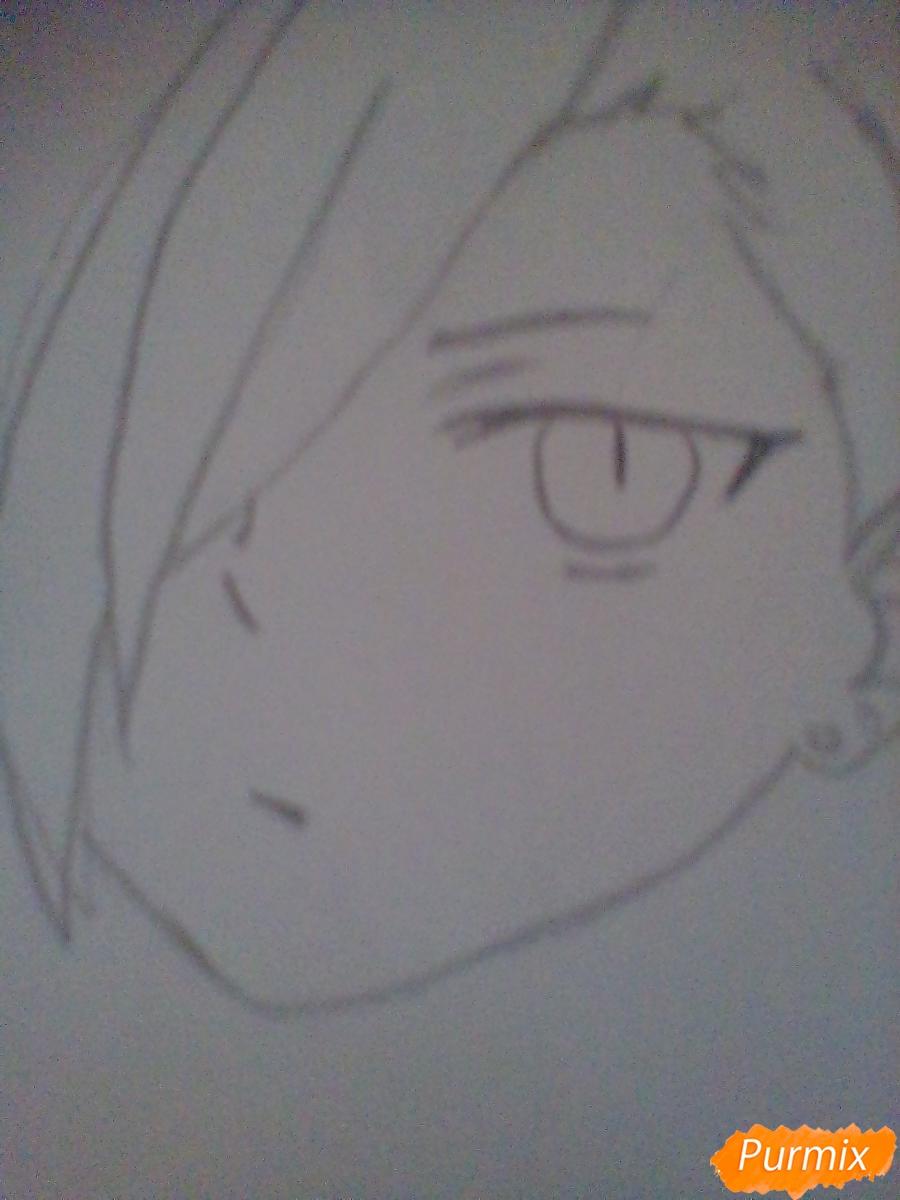 Рисуем Хандзо Урусихару из аниме Сатана на подработке - шаг 2
