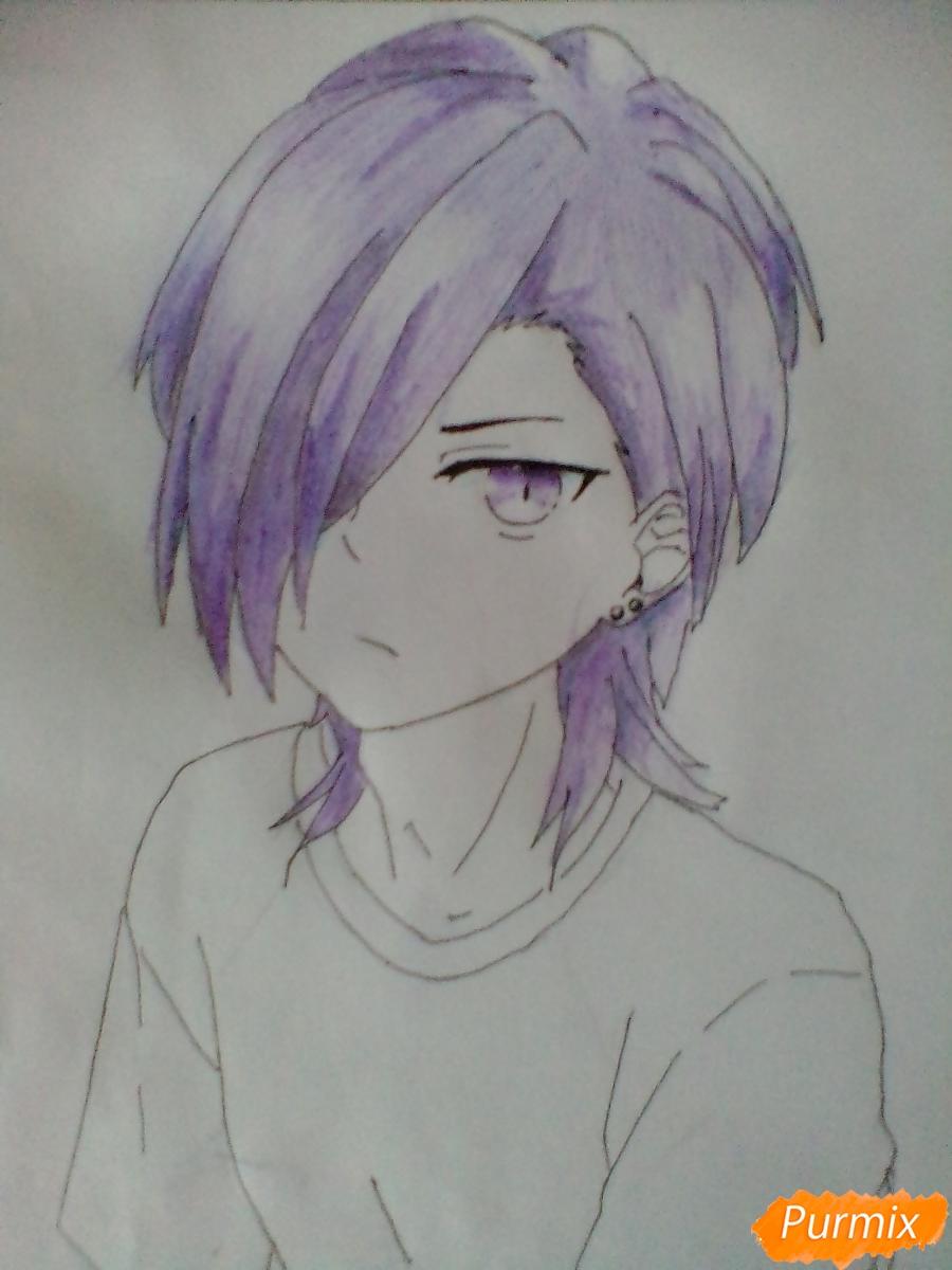 Рисуем Хандзо Урусихару из аниме Сатана на подработке - шаг 7