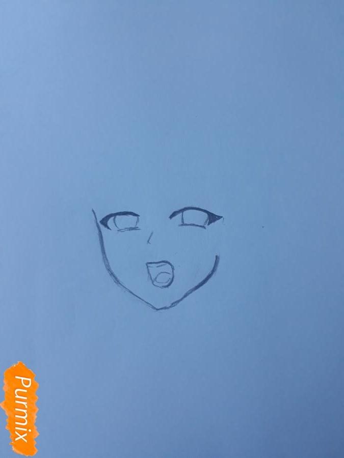 Рисуем Ханну со слезами из аниме Невиданный цветок - шаг 1