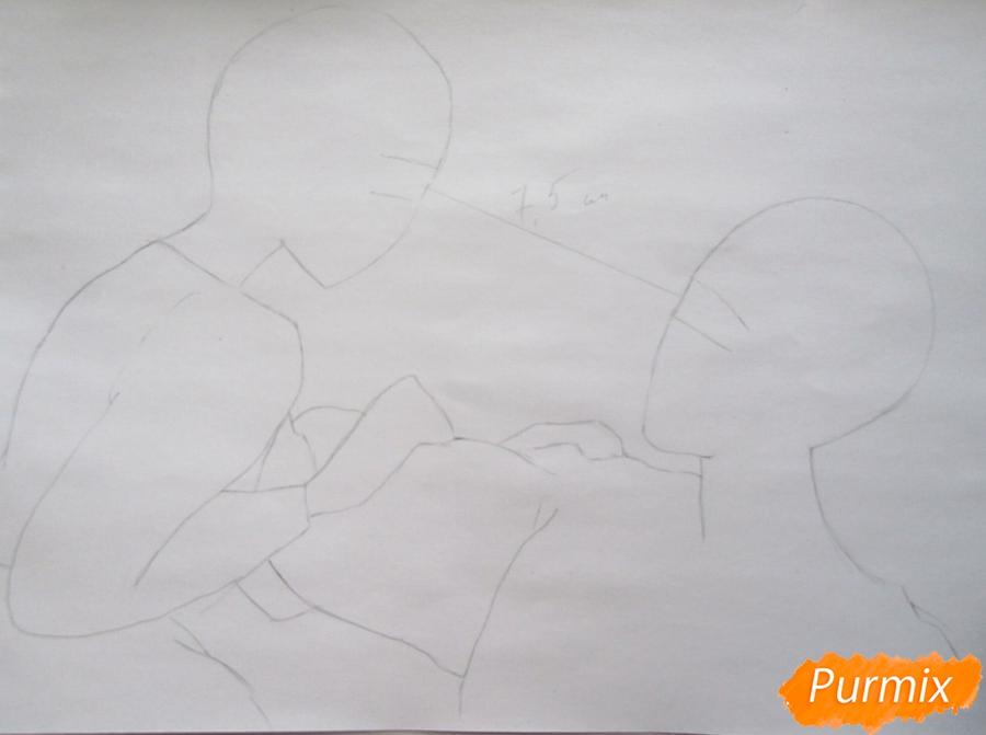 Рисуем Хаула и Софи из аниме Ходячий замок Хаула - шаг 1