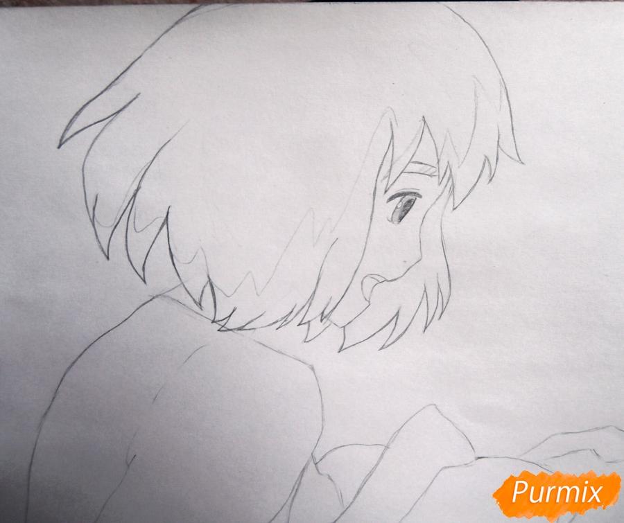 Рисуем Хаула и Софи из аниме Ходячий замок Хаула - шаг 3