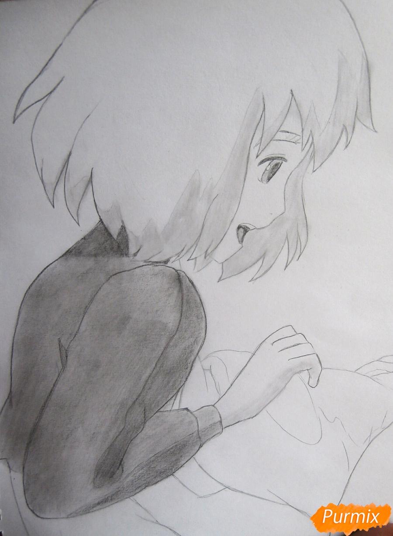 Рисуем Хаула и Софи из аниме Ходячий замок Хаула - шаг 9