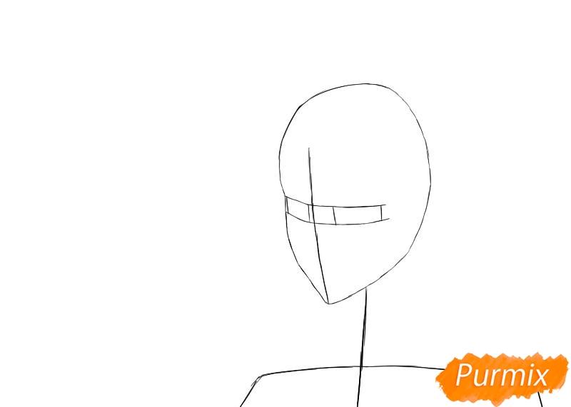 Рисуем и раскрашиваем Хицугая Тоширо из аниме Блич - шаг 1