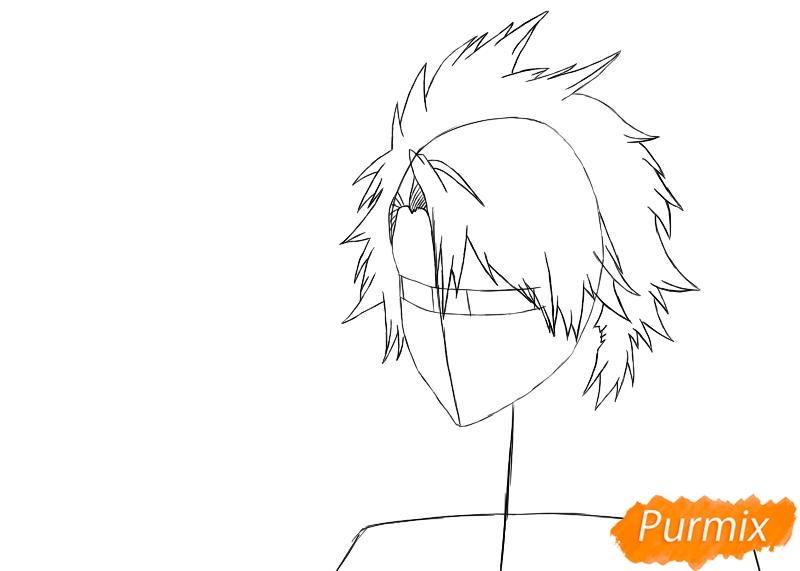 Рисуем и раскрашиваем Хицугая Тоширо из аниме Блич - шаг 2