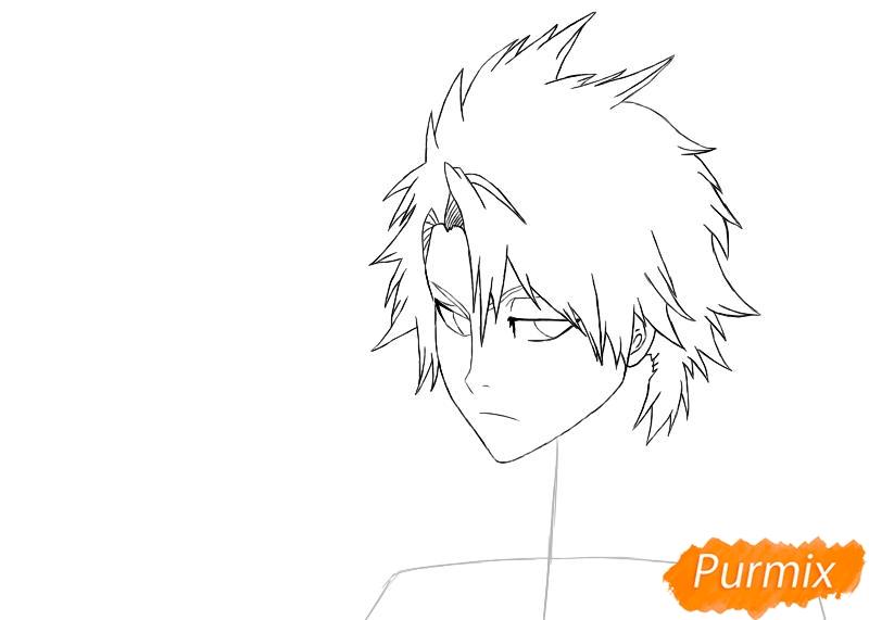 Рисуем и раскрашиваем Хицугая Тоширо из аниме Блич - шаг 3