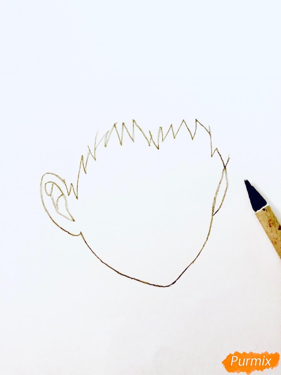 Рисуем Хидейоши Нагачика из аниме Токийский гуль - шаг 1