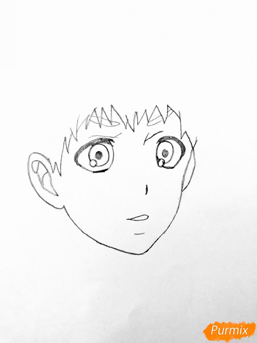 Рисуем Хидейоши Нагачика из аниме Токийский гуль - шаг 2