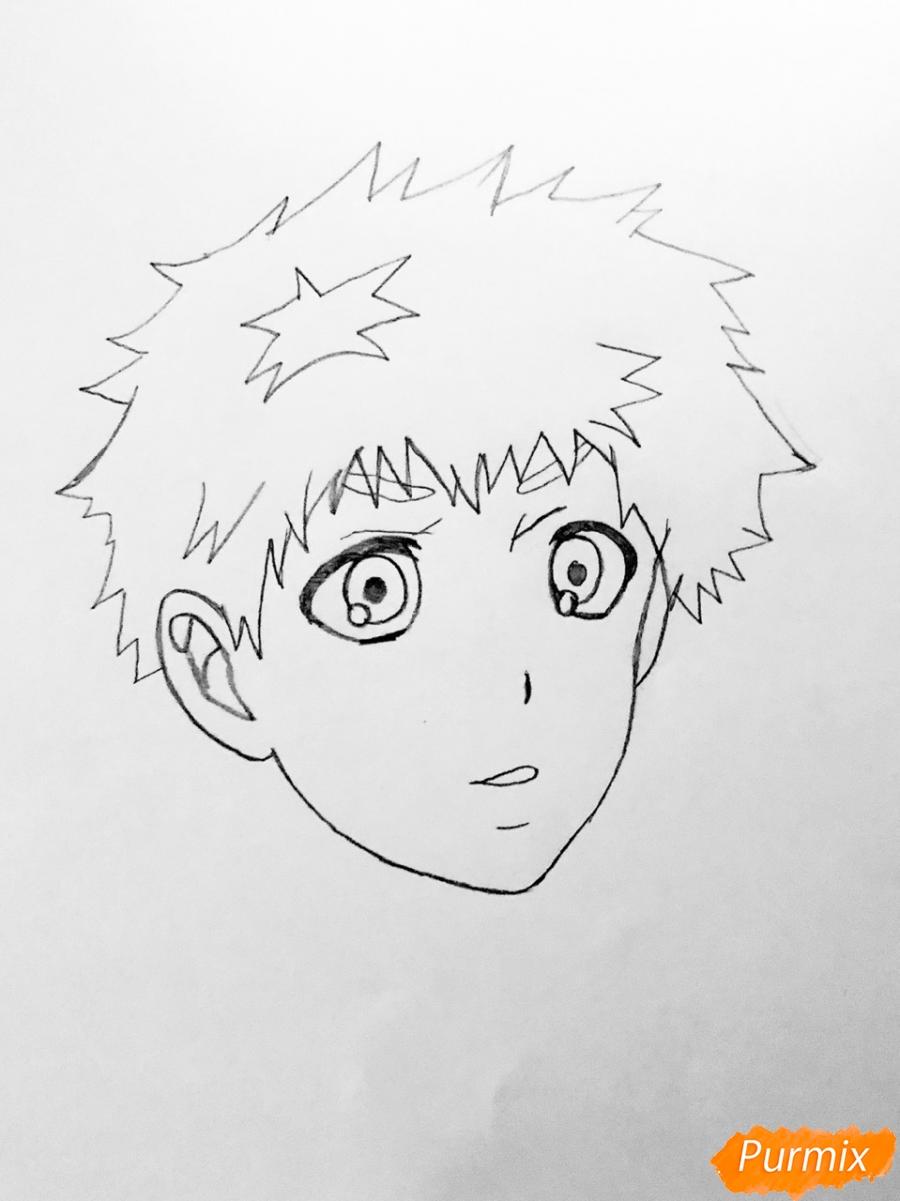 Рисуем Хидейоши Нагачика из аниме Токийский гуль - шаг 3