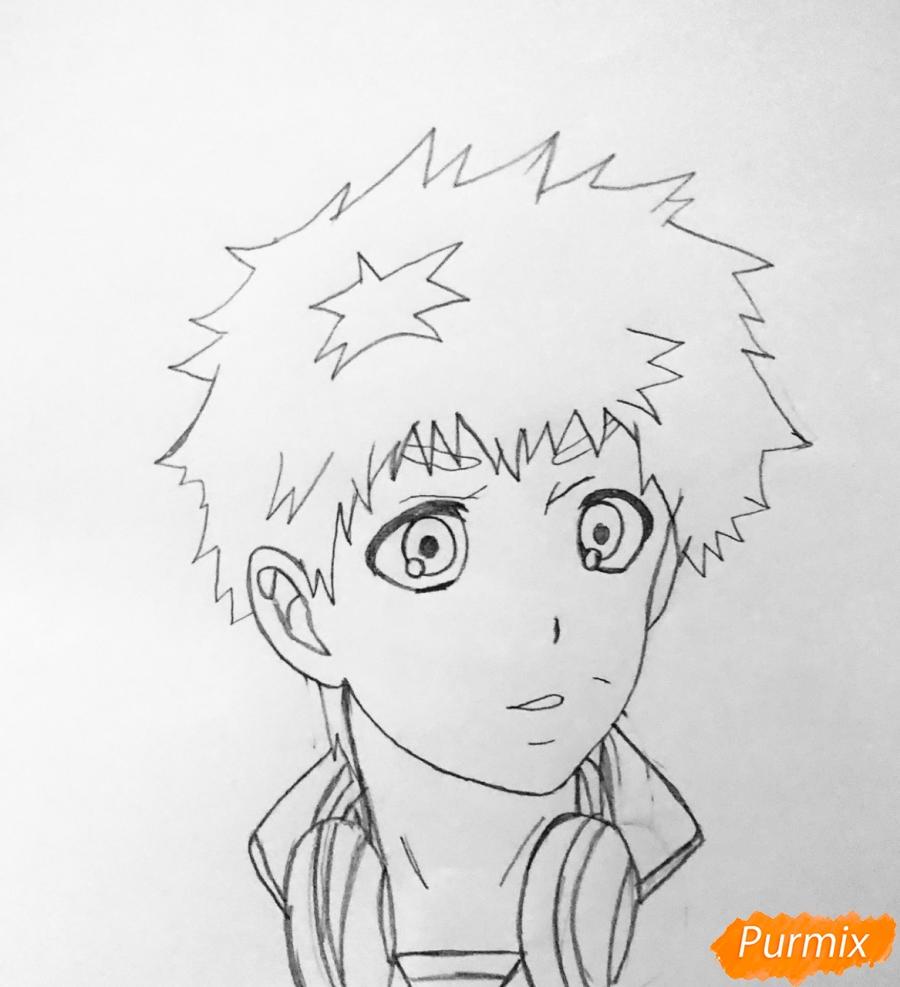 Рисуем Хидейоши Нагачика из аниме Токийский гуль - шаг 4