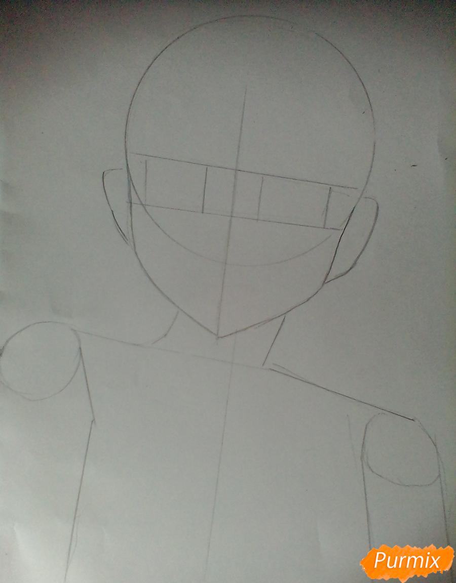 Рисуем Хинату Шоё из аниме Волейбол. - шаг 1