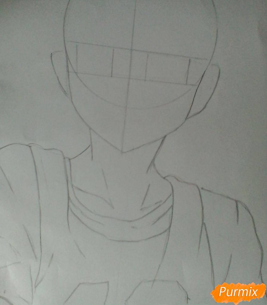 Рисуем Хинату Шоё из аниме Волейбол. - шаг 2
