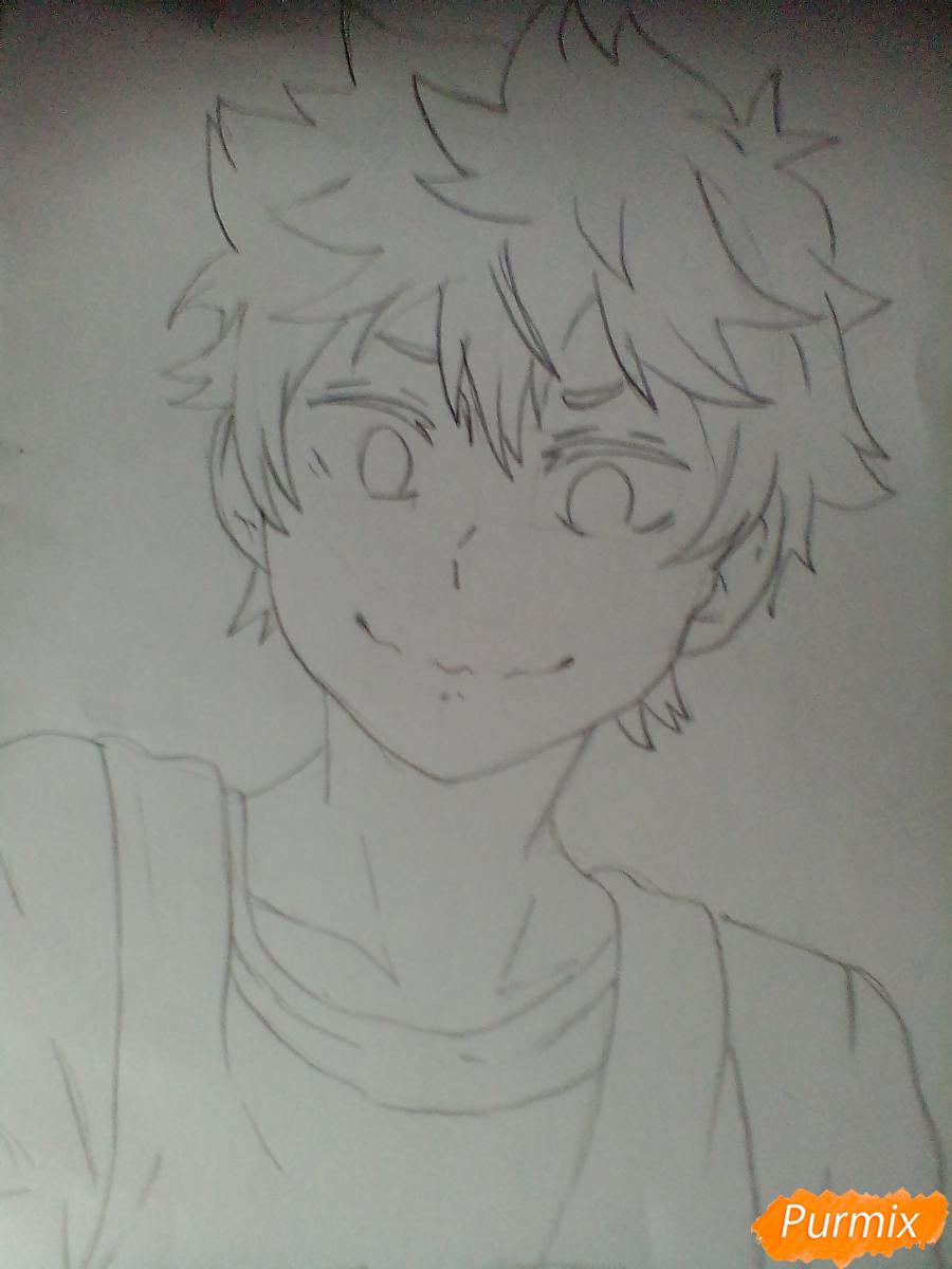 Рисуем Хинату Шоё из аниме Волейбол. - шаг 3