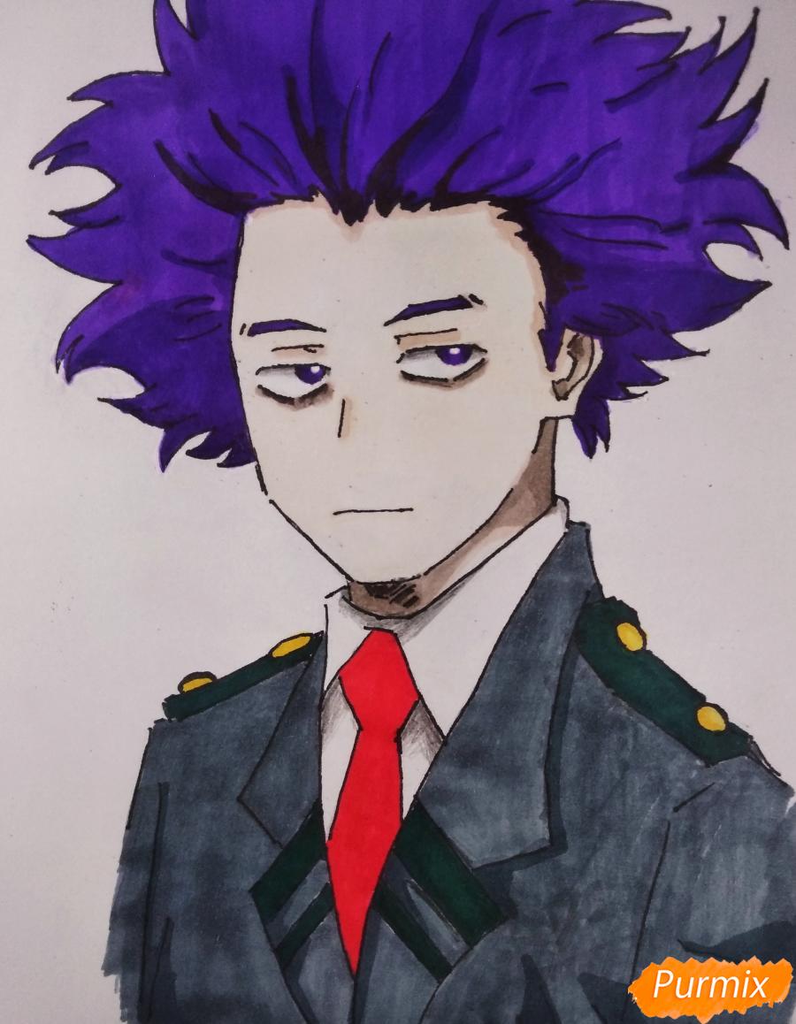Как нарисовать Хитоши Шинсо из аниме Моя геройская академия