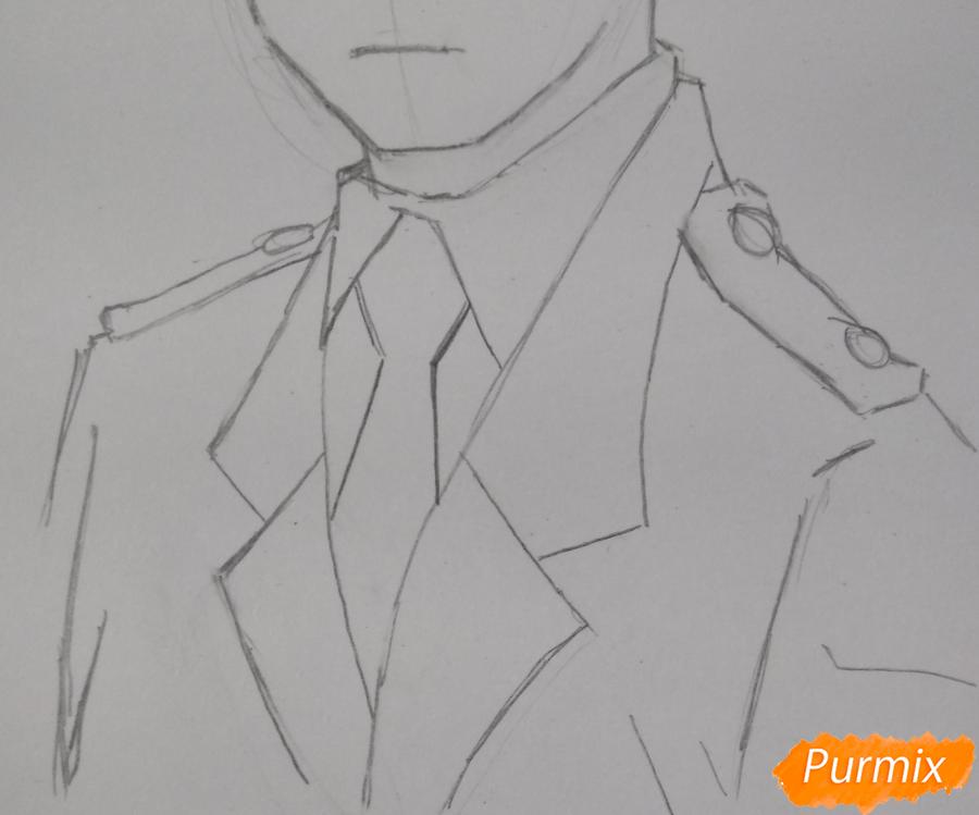 Рисуем Хитоши Шинсо из аниме Моя геройская академия - шаг 4