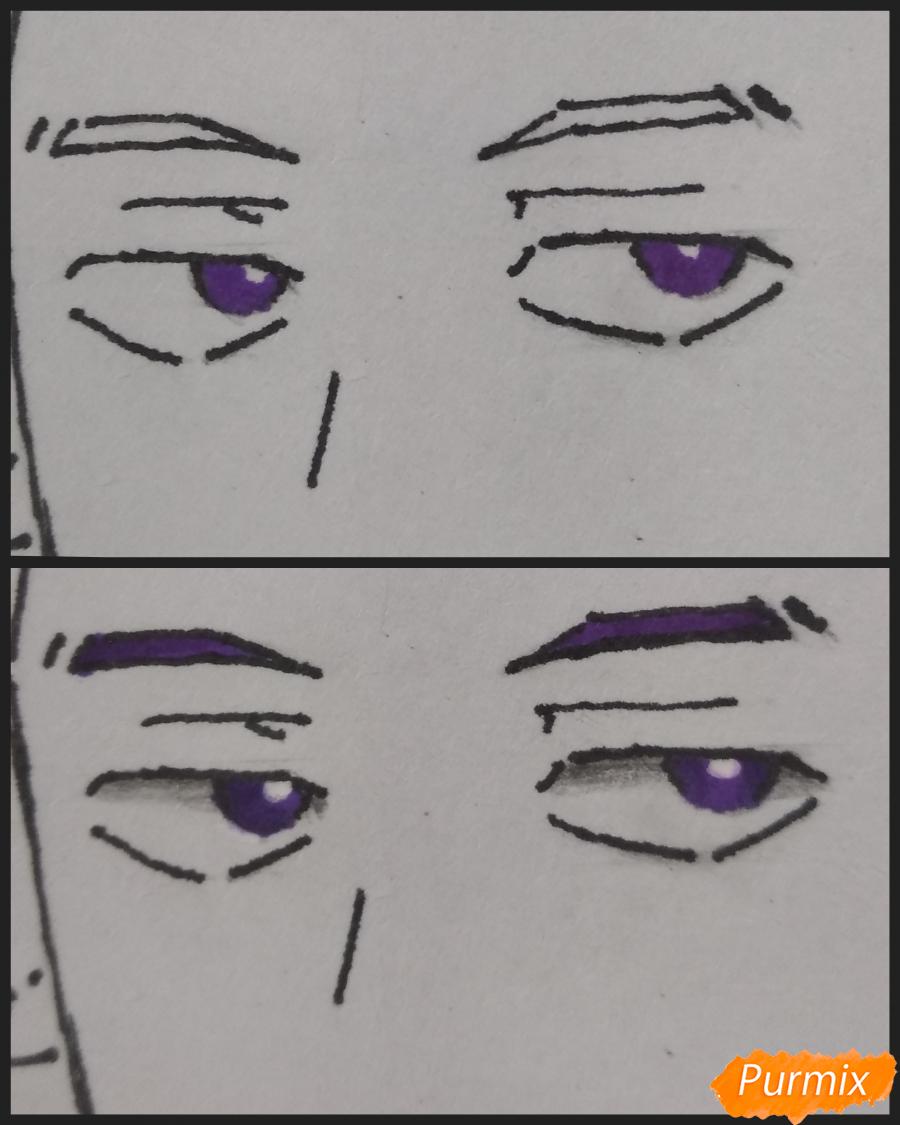 Рисуем Хитоши Шинсо из аниме Моя геройская академия - шаг 6