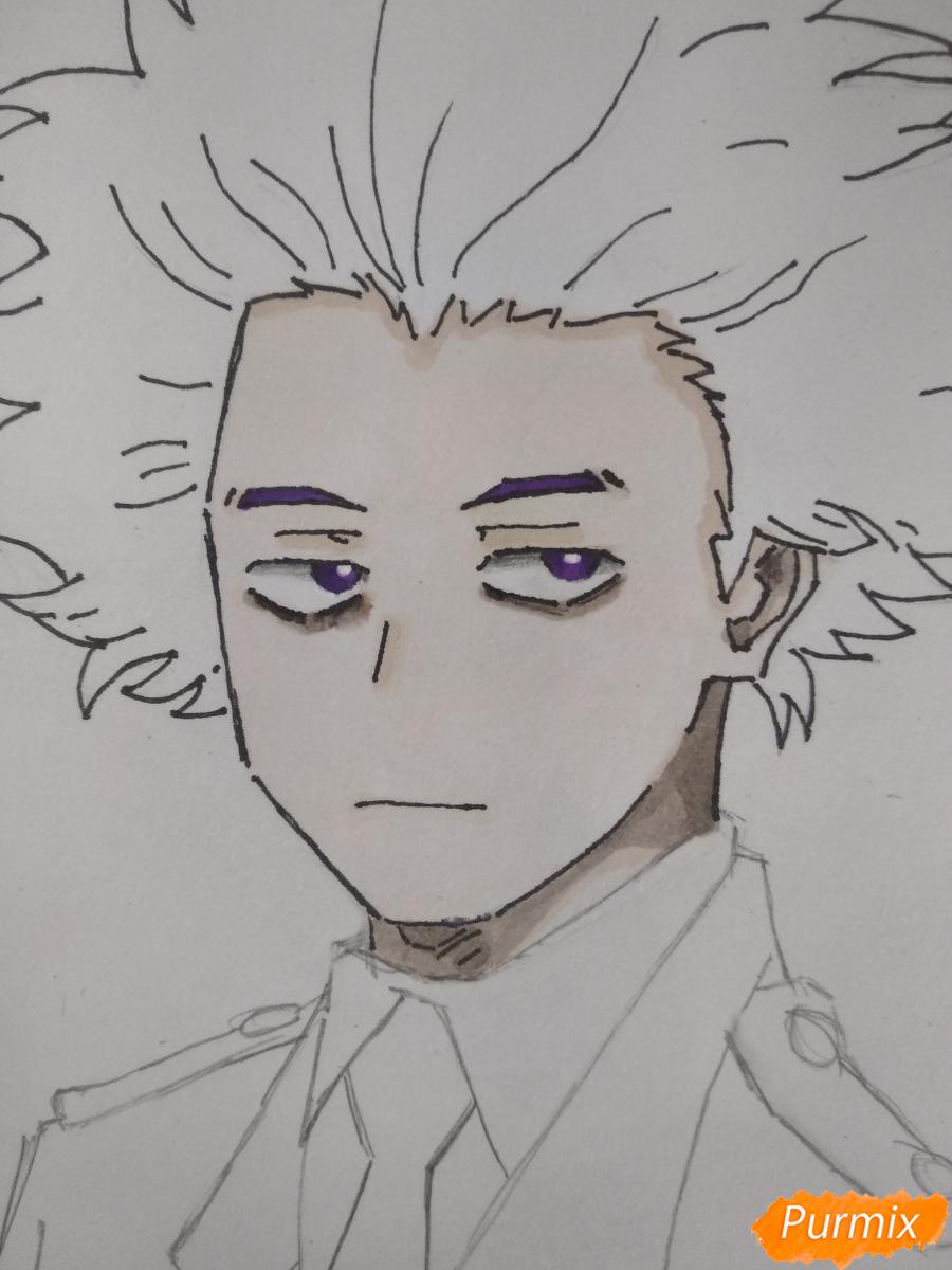 Рисуем Хитоши Шинсо из аниме Моя геройская академия - шаг 7