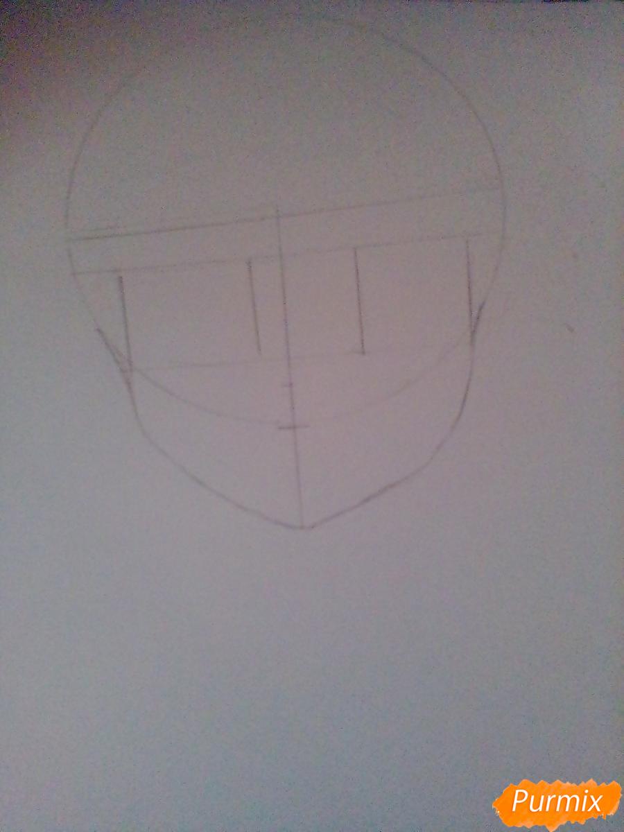 Рисуем и раскрасить Алмаз - шаг 1