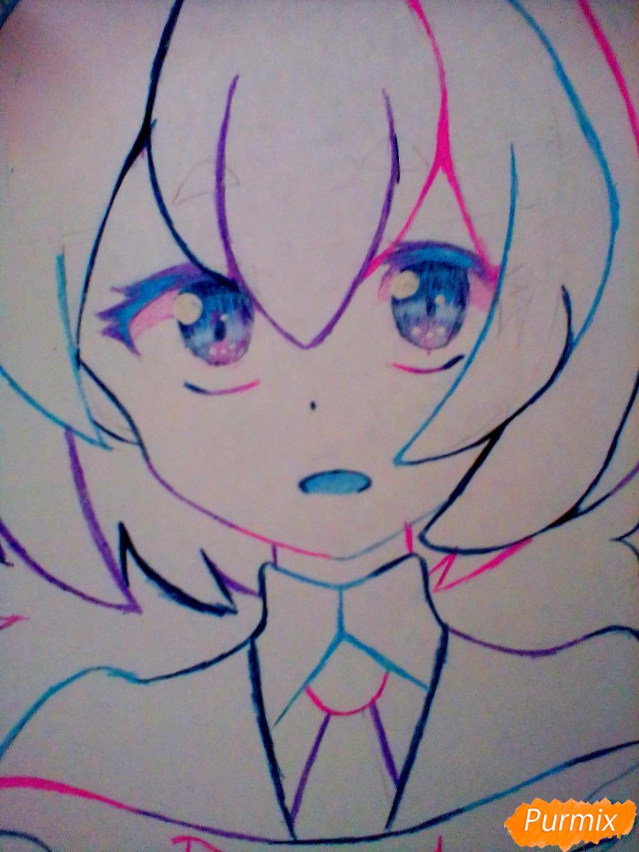 Рисуем и раскрасить Алмаз - шаг 7