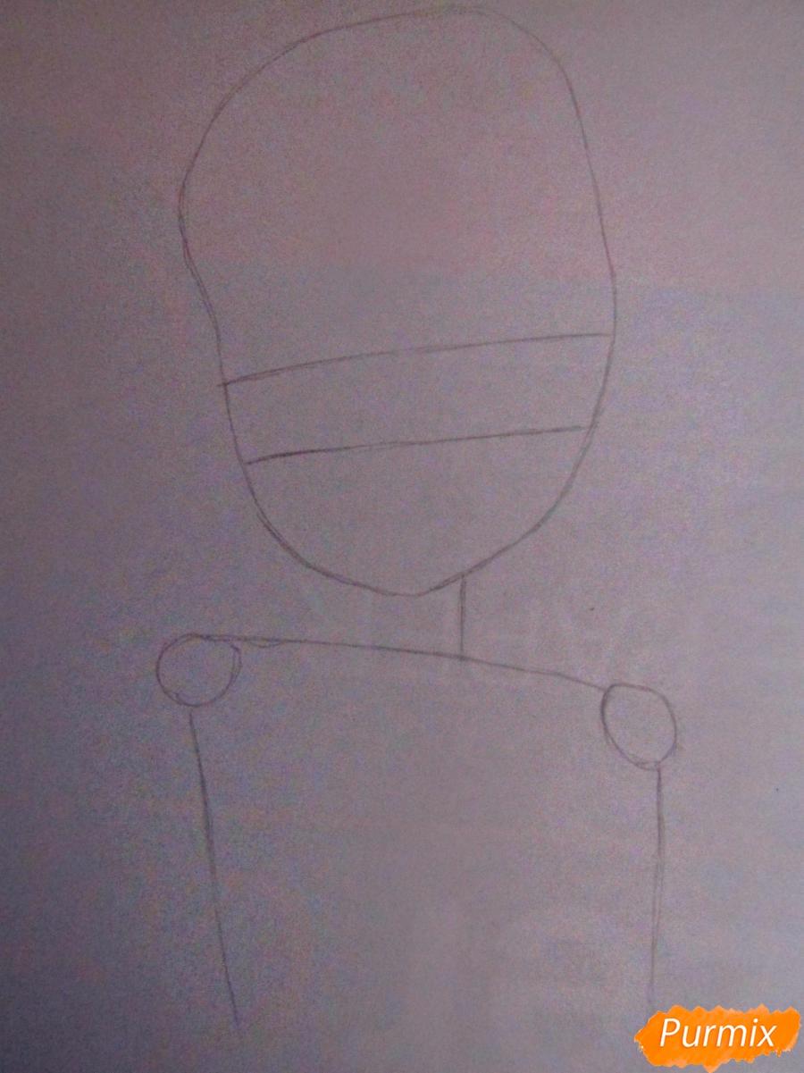 Рисуем и раскрасить аниме девушку-демона - шаг 1