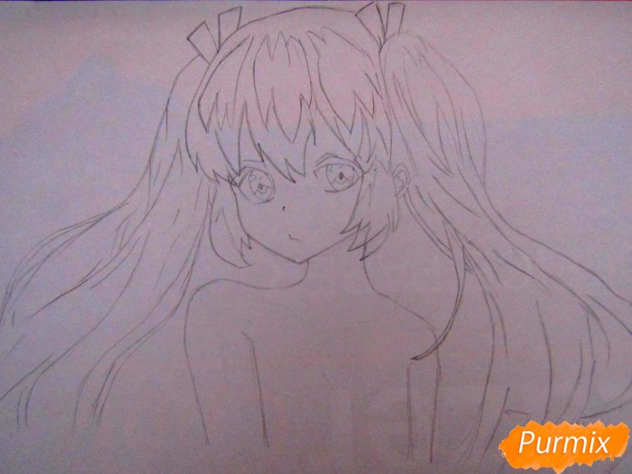 Рисуем и раскрасить аниме девушку-демона - шаг 3