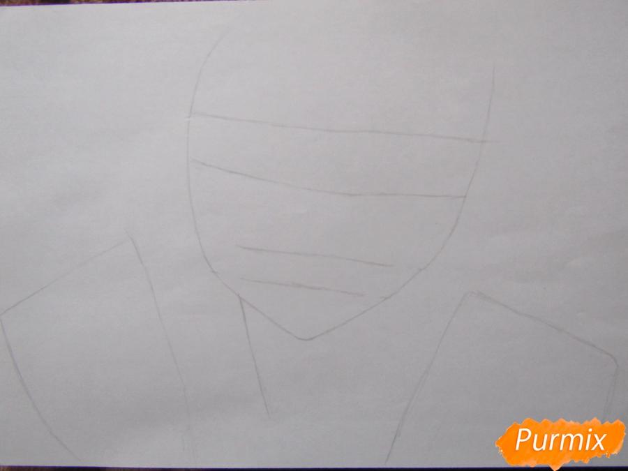 Рисуем аниме персонажа карандашами - шаг 1