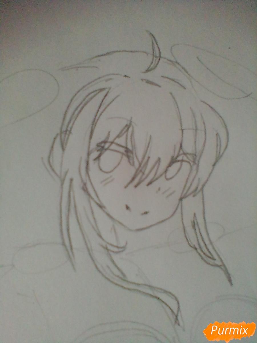 Рисуем Мику Хацунэ с хвостиками - шаг 2