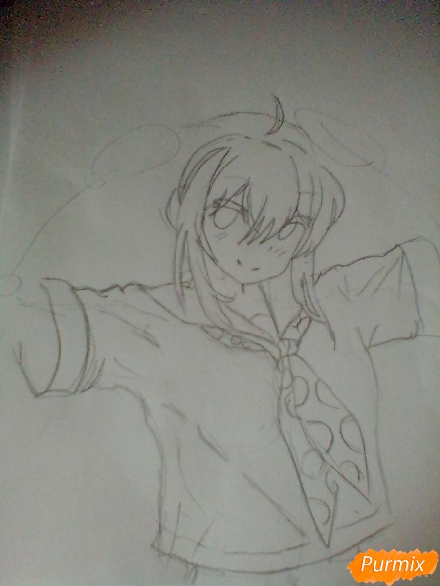 Рисуем Мику Хацунэ с хвостиками - шаг 3