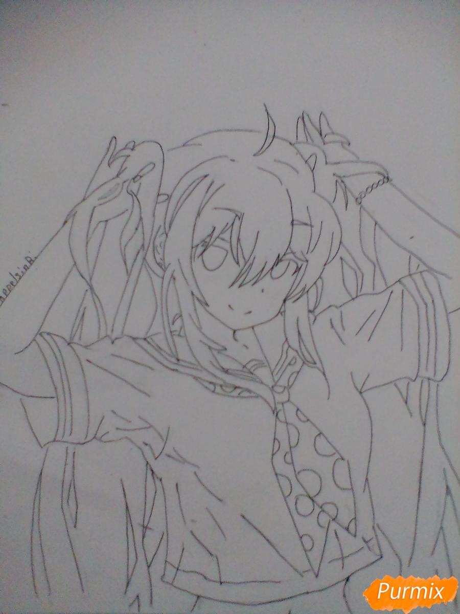 Рисуем Мику Хацунэ с хвостиками - шаг 5