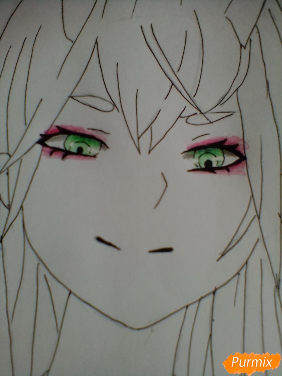 Рисуем и раскрасить Ноль Два - шаг 7