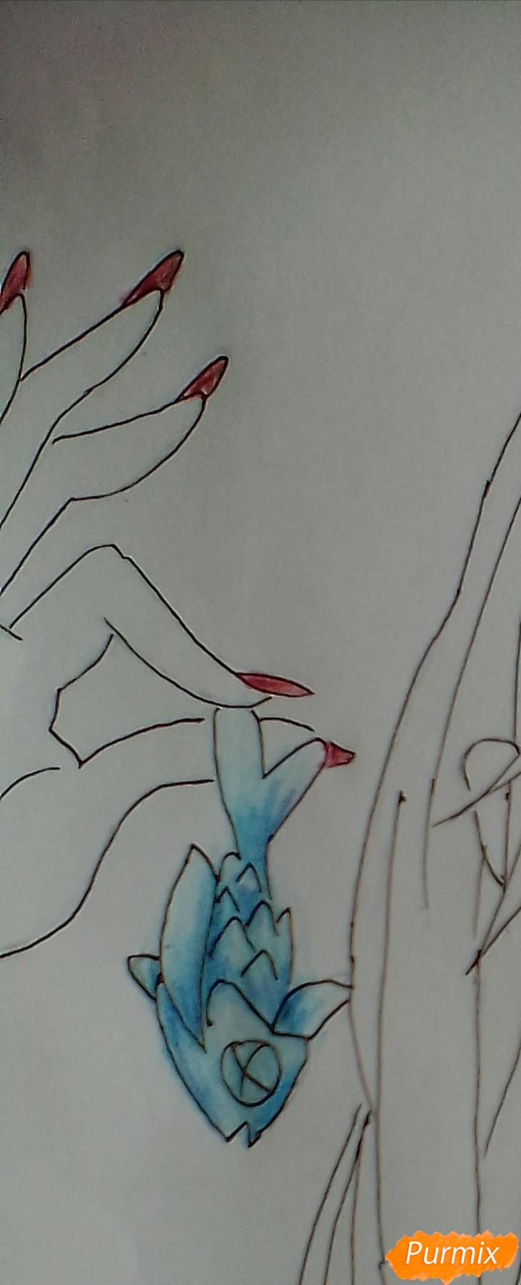 Рисуем и раскрасить Ноль Два - шаг 9
