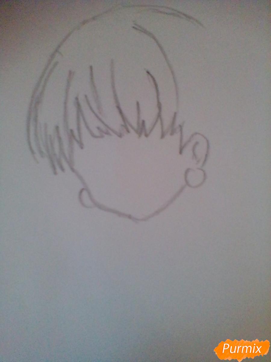 Рисуем и раскрасить портрет Хацунэ Мику - шаг 1