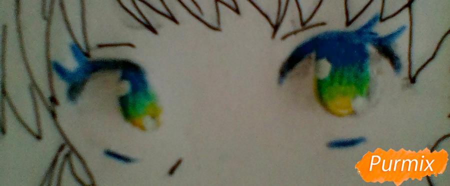 Рисуем и раскрасить портрет Хацунэ Мику - шаг 6