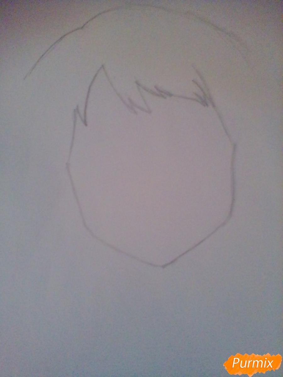 Рисуем портрет Очаки Урараки - шаг 2