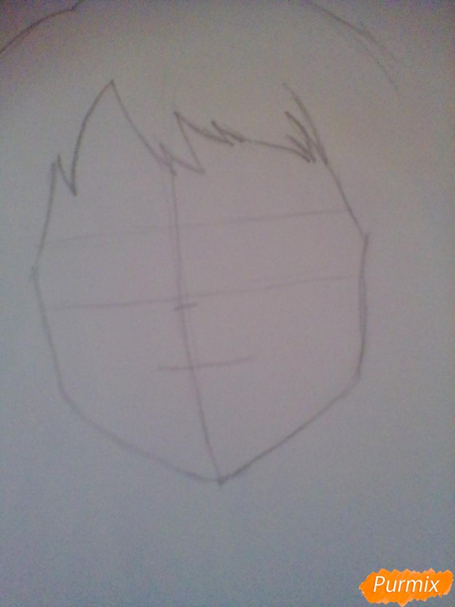 Рисуем портрет Очаки Урараки - шаг 3