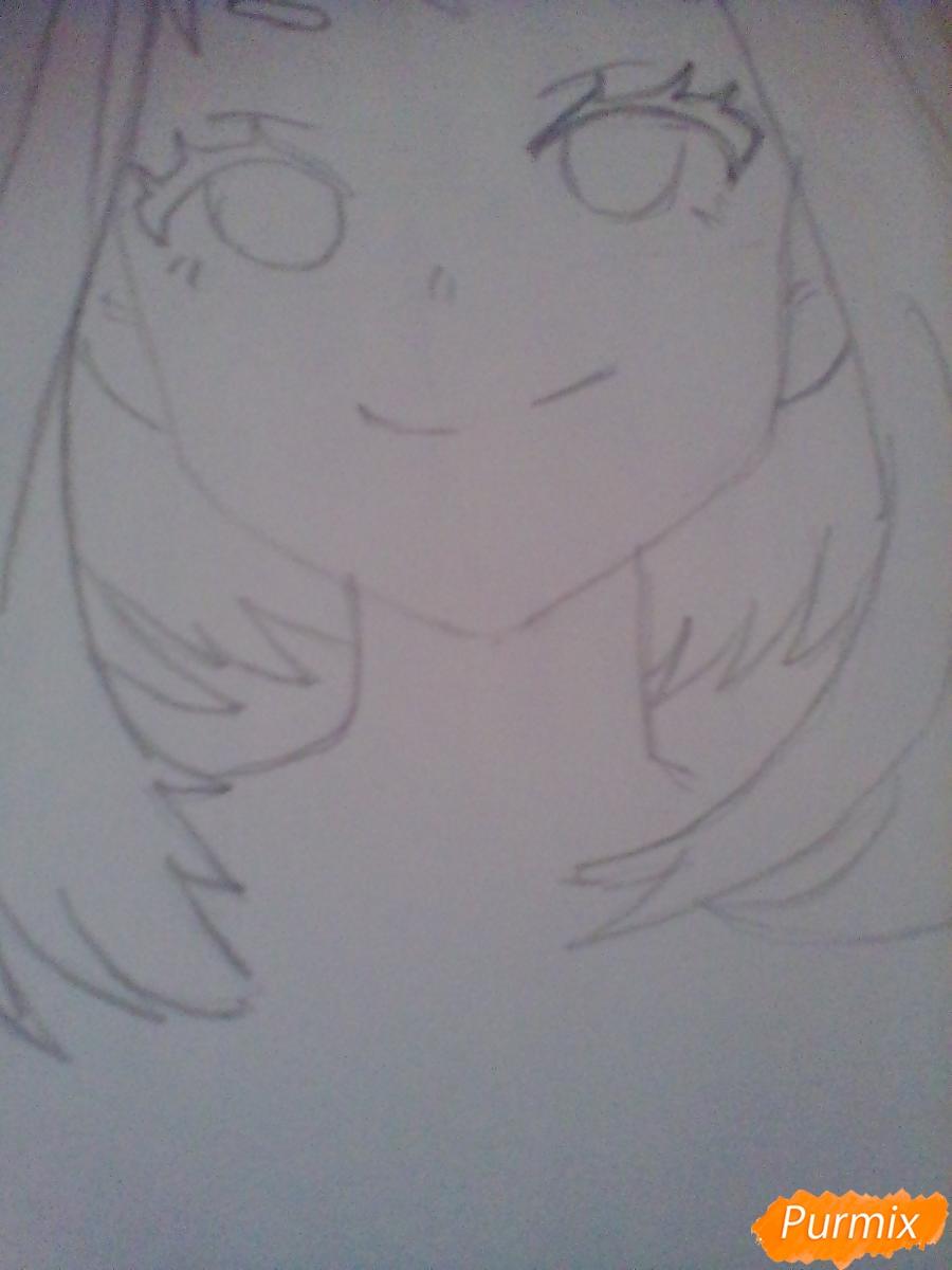 Рисуем портрет Очаки Урараки - шаг 6