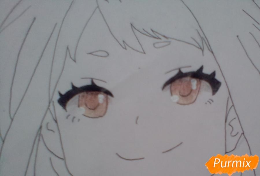 Рисуем портрет Очаки Урараки - шаг 9