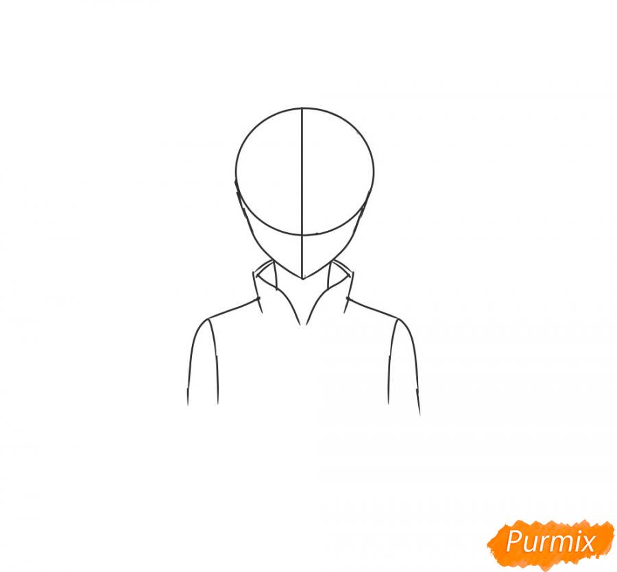 Рисуем и раскрасить Сакуру - шаг 3